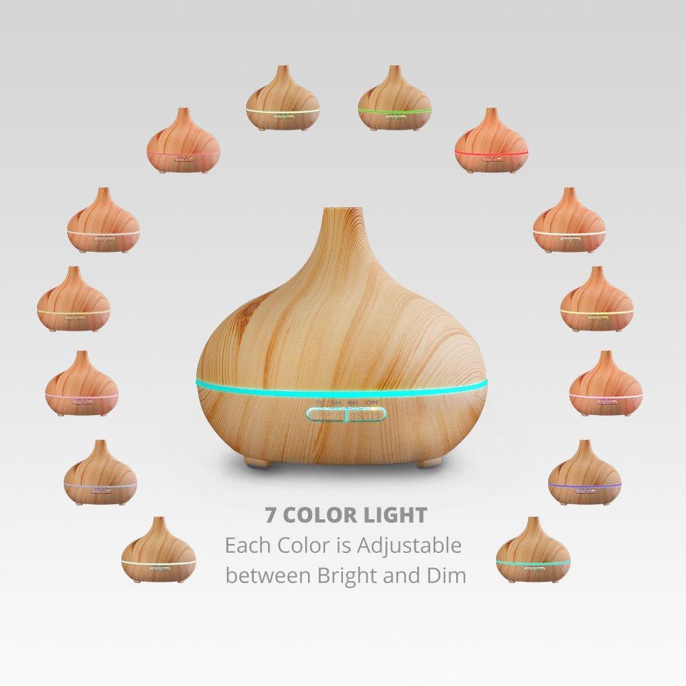 led de colores - difusor aromaterapia