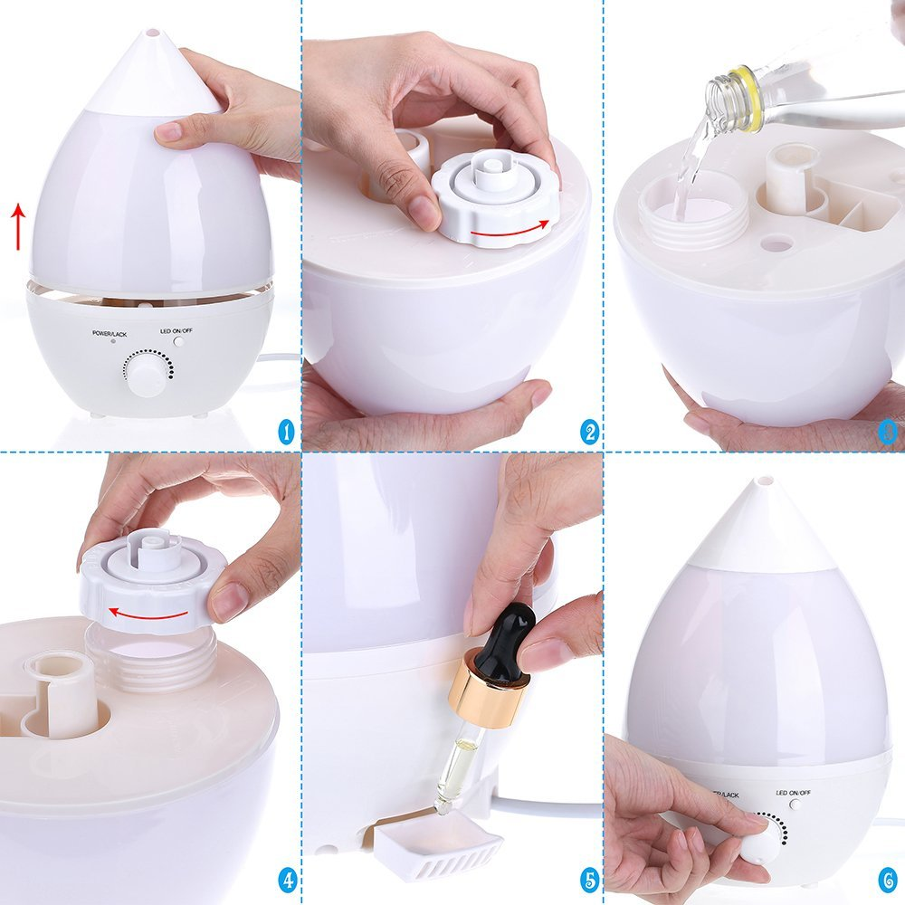 forma de uso del humidificador